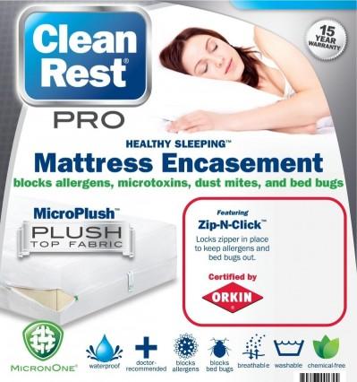 clean rest mattress encasement mattress pads protectors bowles mattress company. Black Bedroom Furniture Sets. Home Design Ideas